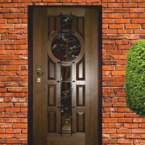 Одностворчатые стеклометаллические двери