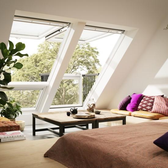 Окно-балкон VELUX CABRIO